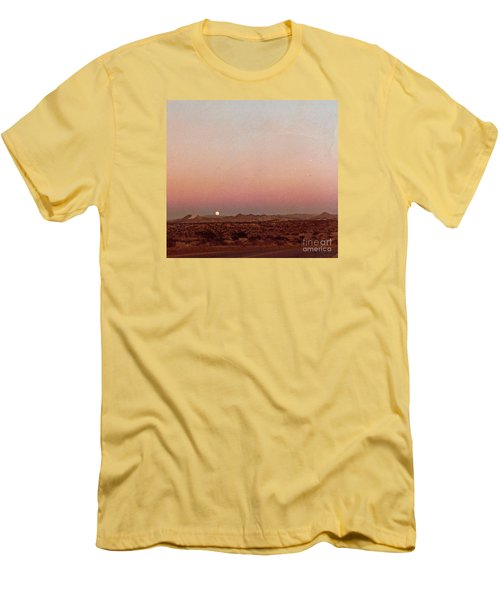 Mojave Sunset Men's T-Shirt (Slim Fit) by Walter Chamberlain