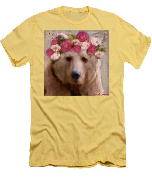 Men's T-Shirt (Slim Fit) featuring the digital art Momma Bear by Lisa Noneman