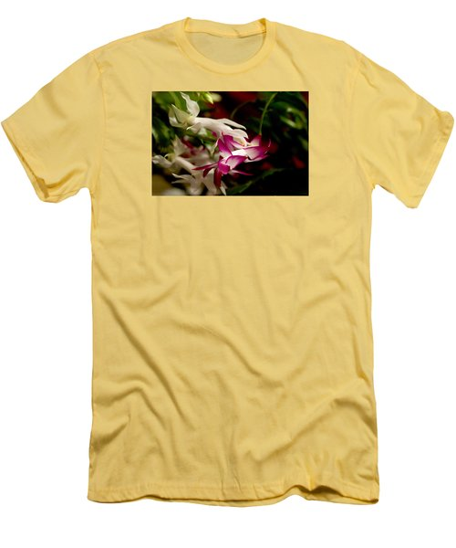 Men's T-Shirt (Slim Fit) featuring the photograph Momma's Christmas Cactus by B Wayne Mullins