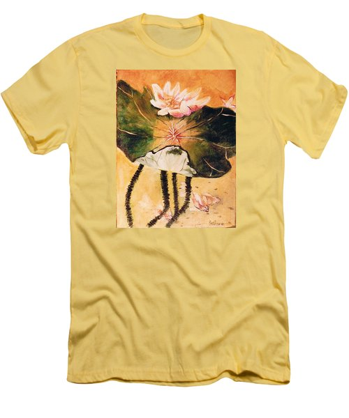 Monet's Water Lily Men's T-Shirt (Slim Fit) by Seth Weaver