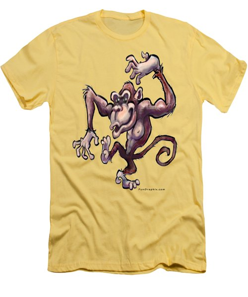 Monkey Men's T-Shirt (Slim Fit) by Kevin Middleton