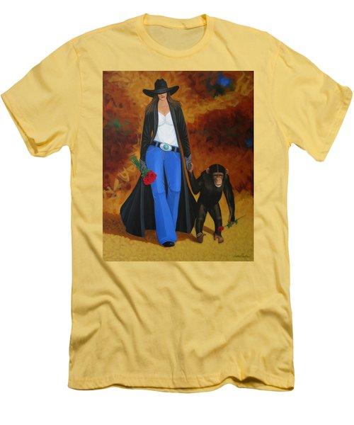 Monkeys Best Friend Men's T-Shirt (Slim Fit) by Lance Headlee