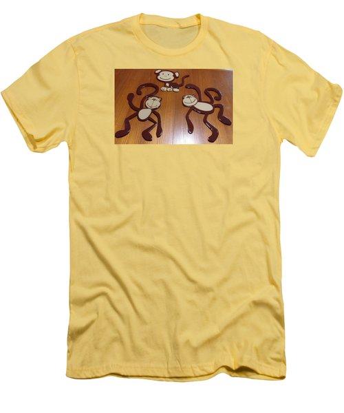Monkeys Men's T-Shirt (Slim Fit) by Val Oconnor