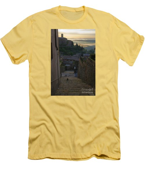 Men's T-Shirt (Slim Fit) featuring the photograph Montalcino City by Yuri Santin