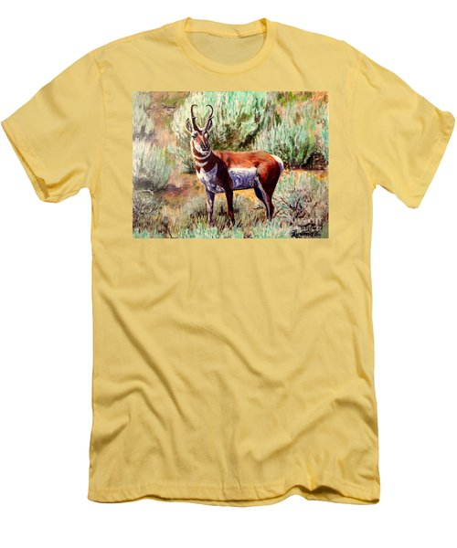 Montana Antelope Buck  Men's T-Shirt (Athletic Fit)