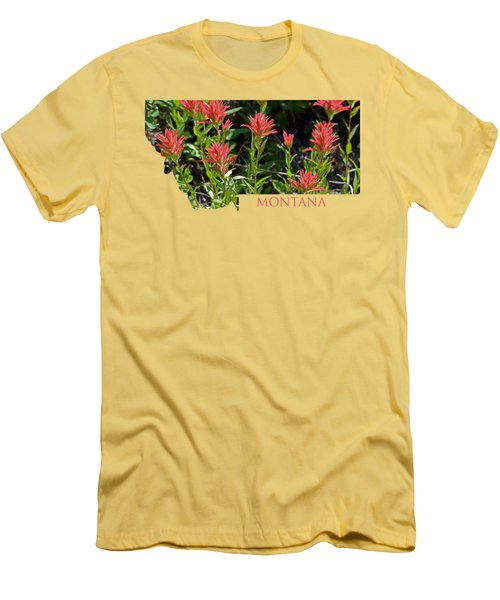 Montana-indian Paintbrush  Men's T-Shirt (Athletic Fit)