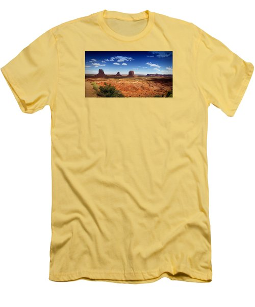 Monument Valley Utah Men's T-Shirt (Slim Fit) by James Bethanis