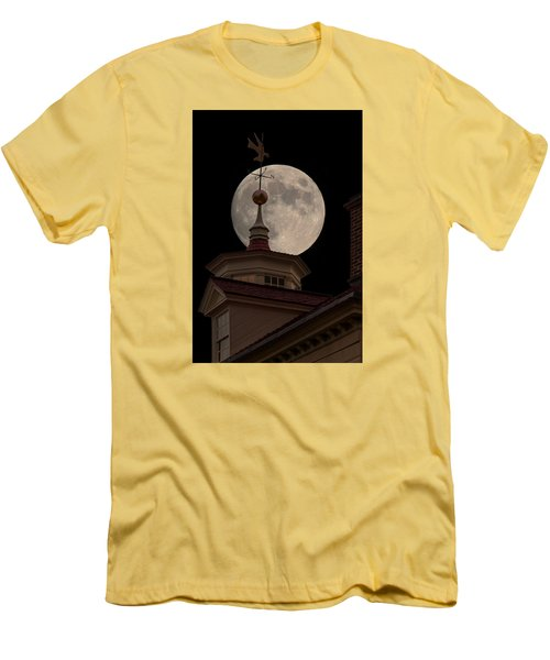 Moon Over Mount Vernon Men's T-Shirt (Slim Fit) by Ed Clark