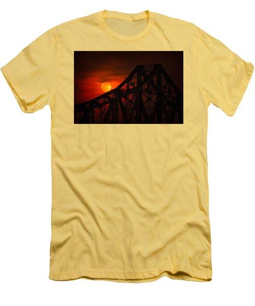 Moon Over The Bridge Men's T-Shirt (Athletic Fit)