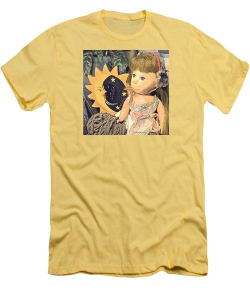 Moon Pearl Men's T-Shirt (Slim Fit) by Tobeimean Peter