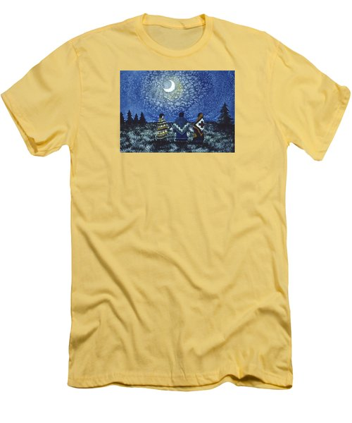 Moonlight Counsel Men's T-Shirt (Slim Fit) by Lynda Hoffman-Snodgrass