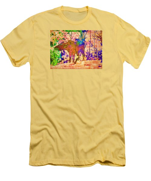 Moose Abstract Men's T-Shirt (Slim Fit) by Jan Amiss Photography