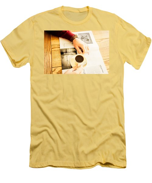 Morning Coffee Men's T-Shirt (Slim Fit) by Cesare Bargiggia