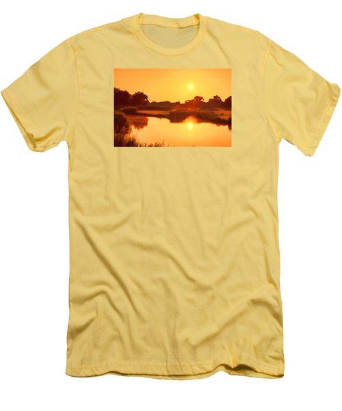 Morning Glory Men's T-Shirt (Slim Fit) by Nadia Sanowar
