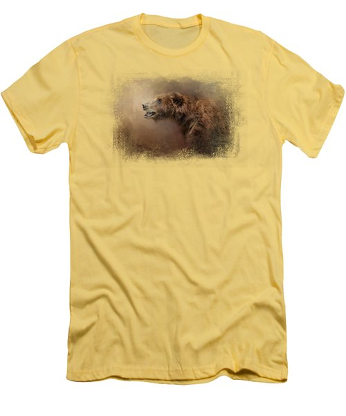 Morning Grizzly Men's T-Shirt (Slim Fit) by Jai Johnson