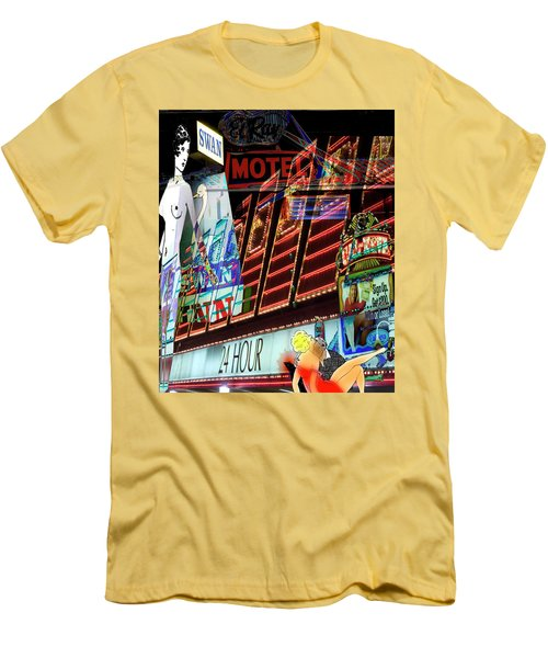 Motel Variations 24 Hours Men's T-Shirt (Slim Fit) by Ann Tracy