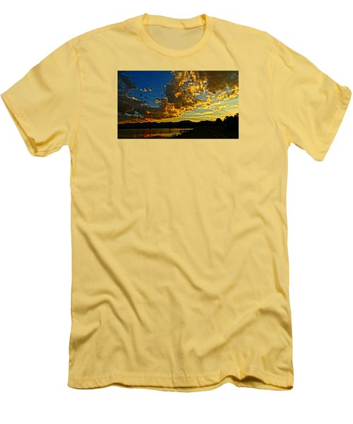 Men's T-Shirt (Slim Fit) featuring the photograph Mountain Colour by Eric Dee
