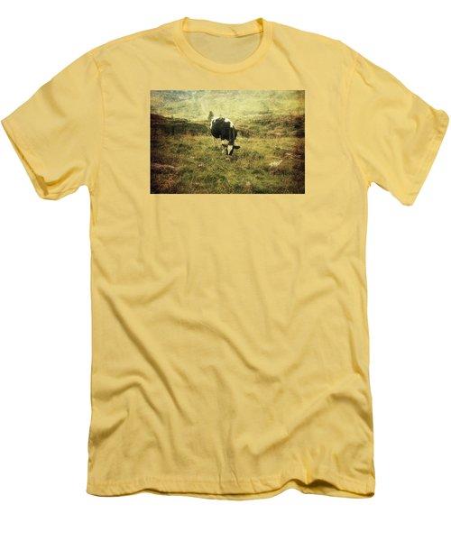 Mountain Pastures  Men's T-Shirt (Slim Fit) by Vittorio Chiampan