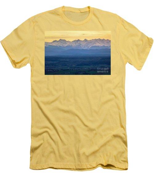 Mountain Scenery 15 Men's T-Shirt (Slim Fit) by Jean Bernard Roussilhe