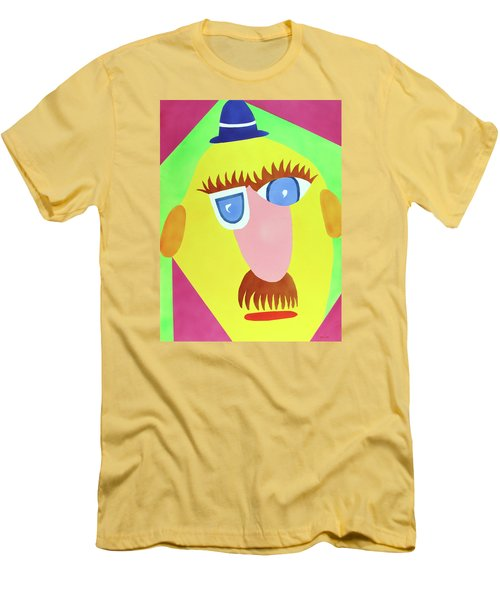 Men's T-Shirt (Slim Fit) featuring the painting Mr. Strangefellow by Thomas Blood