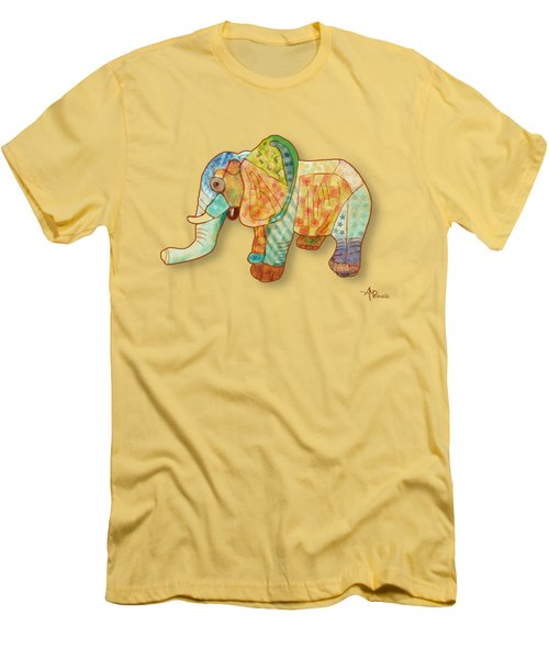 Multicolor Elephant Men's T-Shirt (Athletic Fit)