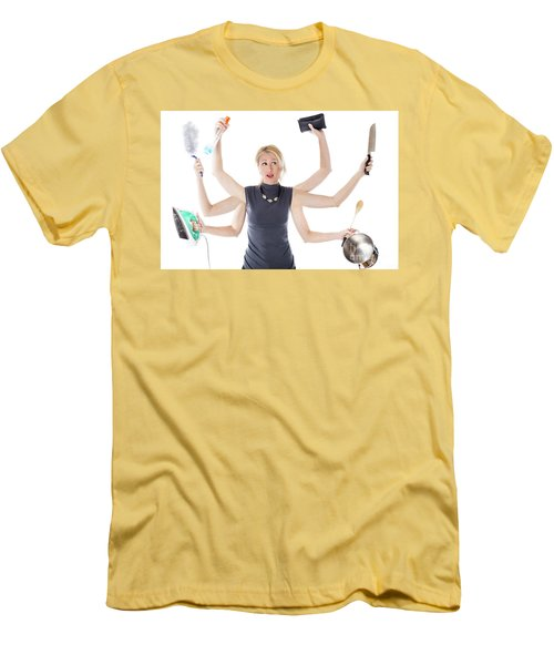 Multitasking Housewife Men's T-Shirt (Athletic Fit)