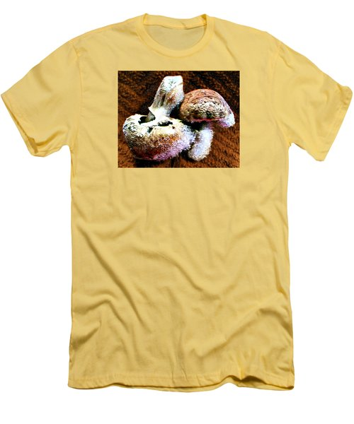 Men's T-Shirt (Slim Fit) featuring the photograph Mushroom Love by Steve Sperry