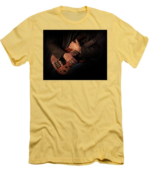 Musician's Hands Men's T-Shirt (Slim Fit) by David and Carol Kelly