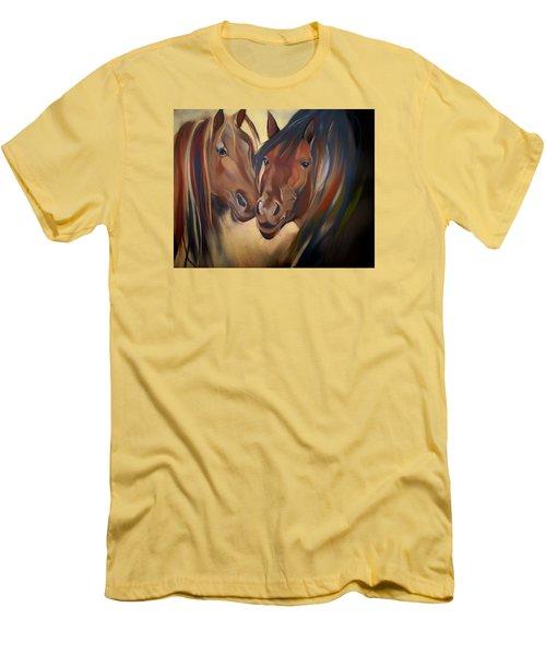 Mustangs Men's T-Shirt (Slim Fit) by Marika Evanson