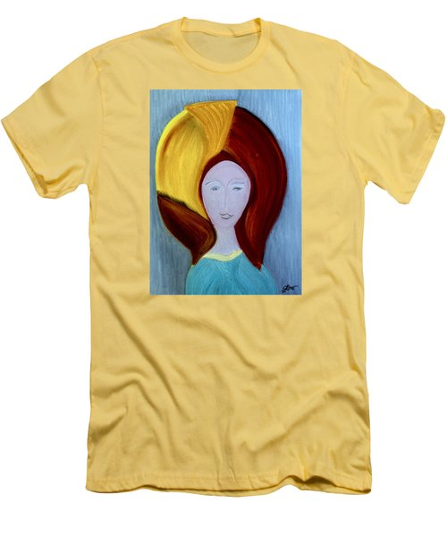 Men's T-Shirt (Slim Fit) featuring the painting My High School Sweethearts by Bill OConnor