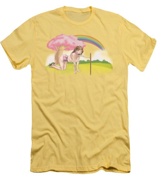 Men's T-Shirt (Slim Fit) featuring the mixed media My Little Pony by TortureLord Art