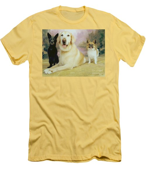 My Son's Three Dogs Men's T-Shirt (Athletic Fit)
