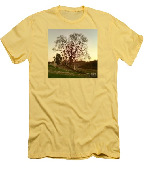 Men's T-Shirt (Slim Fit) featuring the photograph My Tree Has A Soul  by Delona Seserman