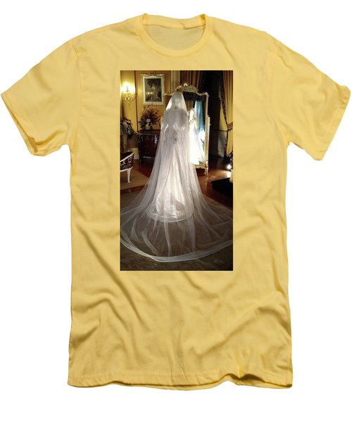 Men's T-Shirt (Slim Fit) featuring the photograph My Wedding Gown by Gary Smith