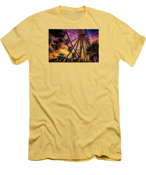 Myrtle Beach Skywheel Men's T-Shirt (Slim Fit) by David Smith