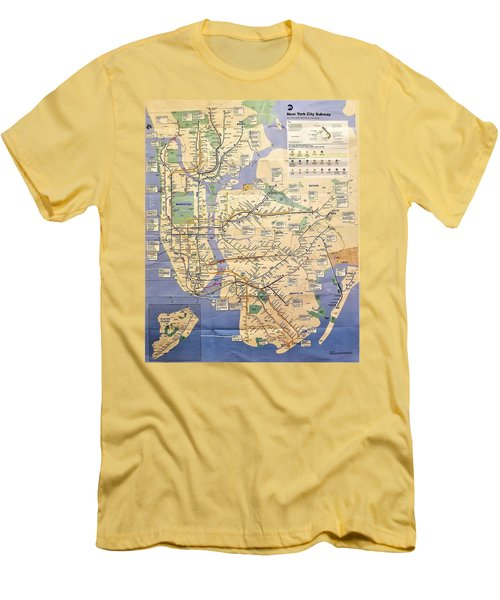 N Y C Subway Map Men's T-Shirt (Athletic Fit)