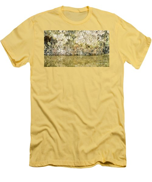 Men's T-Shirt (Slim Fit) featuring the photograph Natural Stone Background by Torbjorn Swenelius