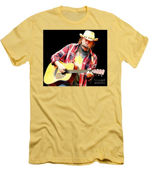 Neil Young Men's T-Shirt (Slim Fit) by John Malone