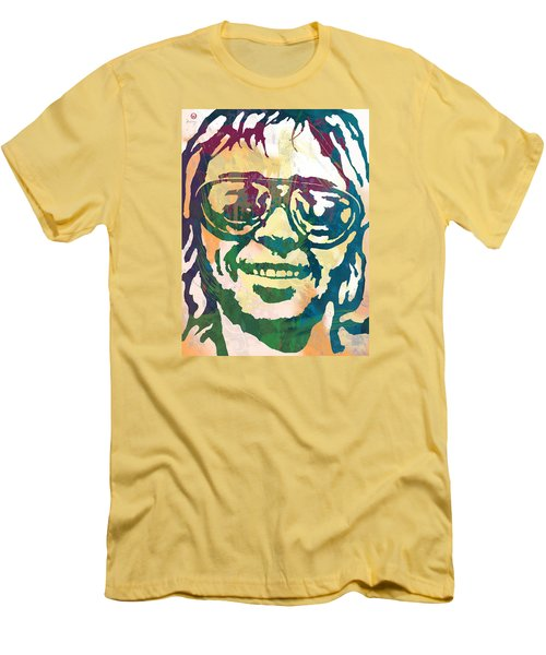 Neil Young Pop Stylised Art Poster Men's T-Shirt (Slim Fit) by Kim Wang