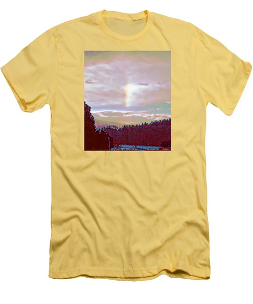 New Year's Dawning Fire Rainbow Men's T-Shirt (Slim Fit) by Anastasia Savage Ealy