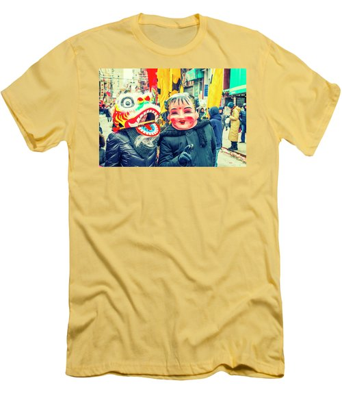 New York Chinatown Men's T-Shirt (Athletic Fit)