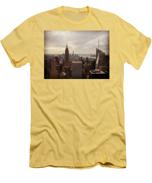 New York City Skyline Men's T-Shirt (Slim Fit) by Lush Life Travel