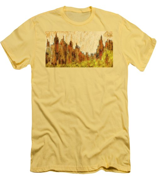 New York City In The Fall Men's T-Shirt (Slim Fit) by Alex Galkin