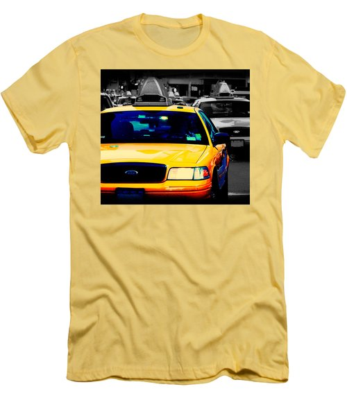 New York Taxi Men's T-Shirt (Slim Fit) by Christopher Woods