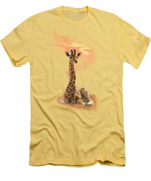 Newborn Giraffe Men's T-Shirt (Slim Fit) by Lucie Bilodeau
