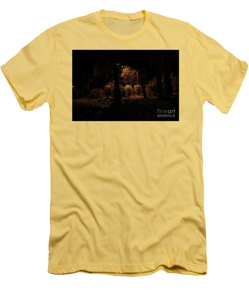 Night In The Park  Men's T-Shirt (Slim Fit) by Ana Mireles