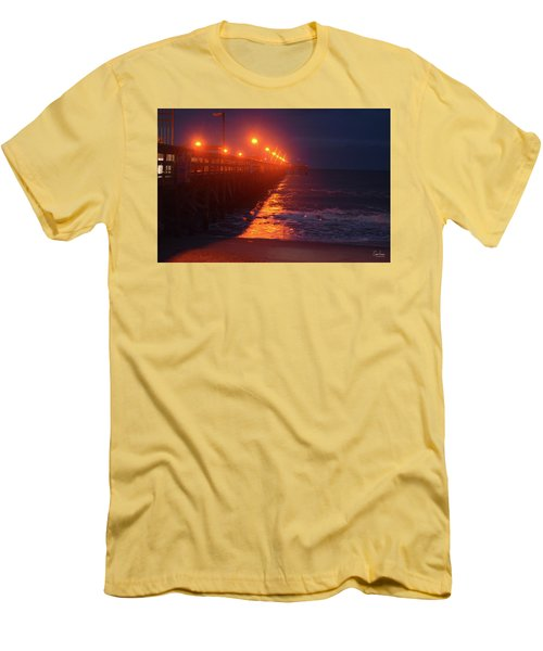 Night Pier Men's T-Shirt (Slim Fit) by Gordon Mooneyhan