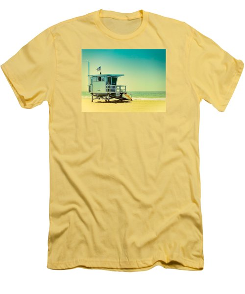 Men's T-Shirt (Slim Fit) featuring the photograph No 16 - Wish You Were Here by Douglas MooreZart