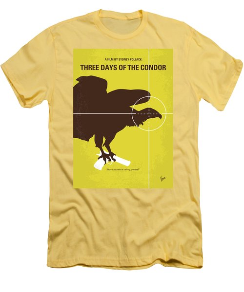 No659 My Three Days Of The Condor Minimal Movie Poster Men's T-Shirt (Athletic Fit)