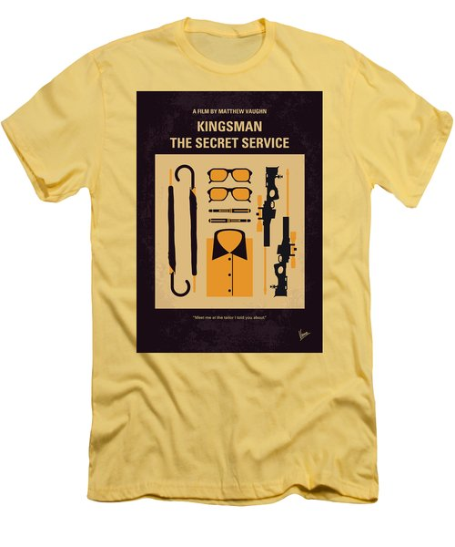 Men's T-Shirt (Slim Fit) featuring the digital art No758 My Kingsman Minimal Movie Poster by Chungkong Art